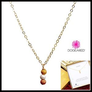 DOGEARED 14K GOLD 3 WISHES PENDANT NECKLACE A2C